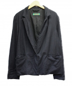 CASEY CASEY(ケーシーケーシー)の古着「テーラードジャケット」 ネイビー