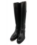 SARTORE(サルトル)の古着「ベルトジョッキーブーツ」 ブラック