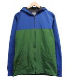 MOMOTARO JEANS(モモタロー ジーンズ)の古着「ナイロンマウンテンパーカー」|ブルー×グリーン