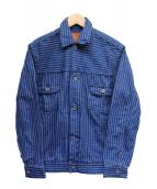 MOMOTARO JEANS(モモタロー ジーンズ)の古着「ウォバッシュ 2ndタイプ ジャケット」|ネイビー