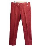 CORNELIANI(コルネリアーニ)の古着「センタープレスパンツ」|レッド