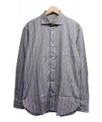 BRIONI(ブリオーニ)の古着「ストライプシャツ」|ブラウン
