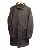 ORGUEIL(オルゲイユ)の古着「メルトンコート」|ブラウン