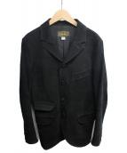 ORGUEIL(オルゲイユ)の古着「レザーサックジャケット」|ブラック