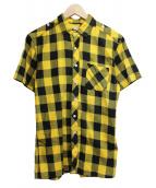 ()の古着「ブロックチェックS/Sシャツ」|イエロー×ブラック
