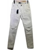 G-STAR RAW(ジースターロウ)の古着「スキニーデニムパンツ」|ホワイト