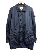 PEUTEREY(ピューテリー)の古着「ナイロンステンカラーコート」|ネイビー