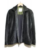 STUDIOUS(ステュディオス)の古着「ニットコーデュロイスーパーストレッチジャケット」|グリーン
