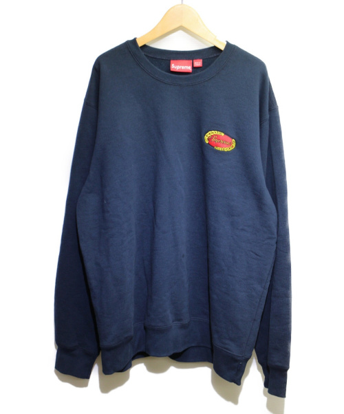 SUPREME(シュプリーム)Supreme (シュプリーム) チェーンロゴ刺繍クルーネック ネイビー サイズ:XL 19SS Chain Logo Crewneckの古着・服飾アイテム