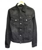 NUDIE JEANS(ヌーディジーンズ)の古着「ビリー ブラックデニムジャケット」|ブラック