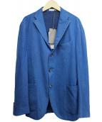 ()の古着「ウール3Bテーラードジャケット」|ブルー