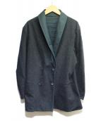 ADAM KIMMEL(アダムキメル)の古着「リバーシブルカットダブルジャケット」|ブラック×グリーン