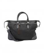 STEFANOMANO(ステファノマーノ)の古着「ナイロン/レザーブリーフバッグ」|ブラック