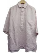 TICCA(ティッカ)の古着「半袖スクエアビッグシャツPO」|ピンク