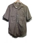 FREEWHEELERS(フリーホイーラーズ)の古着「ショートスリーブシャツ」 ブラウン