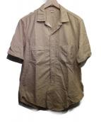 FREEWHEELERS(フリーホイーラーズ)の古着「ショートスリーブシャツ」 ベージュ