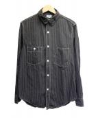 FREEWHEELERS(フリーホイーラーズ)の古着「アイアンオールズシャツ」 ブラック(ウォバッシュシャンブレー)