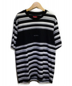 Supreme(シュプリーム)の古着「ブロックストライプTシャツ」|グレー×ブラック