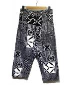 JUNYA WATANABE CDG(ジュンヤワタナベコムデギャルソン)の古着「総柄パンツ」|ホワイト×ブラック