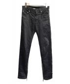 Dior Homme(ディオールオム)の古着「サイドジップブラックスキニーパンツ」|ブラック