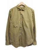FREEWHEELERS(フリーホイーラーズ)の古着「コンダクターシャツ」 ベージュ