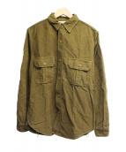 FREEWHEELERS(フリーホイーラーズ)の古着「ドッカーシャツ」 オリーブ