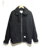 WTAPS(ダブルタップス)の古着「メルトンジップアップジャケット」|ブラック