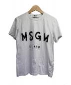 MSGM(エムエスジーエム)の古着「ロゴTシャツ」|ホワイト