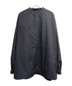 CLOUDY CLOUDY(クラウディクラウディ)の古着「別注リップストップリバーシブルシャツジャケット」|ブラック