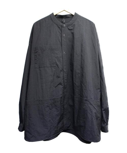 cloudy cloudy(クラウディークラウディー)CLOUDY CLOUDY (クラウディクラウディ) 別注リップストップリバーシブルシャツジャケット ブラック サイズ:L B:MING by BEAMS別注の古着・服飾アイテム