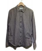 SASSAFRAS(ササフラス)の古着「ダメージ加工BDUシャツ」|グレー