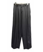 NEON SIGN(ネオンサイン)の古着「タックワイドパンツ」|ブラック