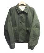 UNITUS(ユナイタス)の古着「オイルド加工ワークジャケット」|オリーブ