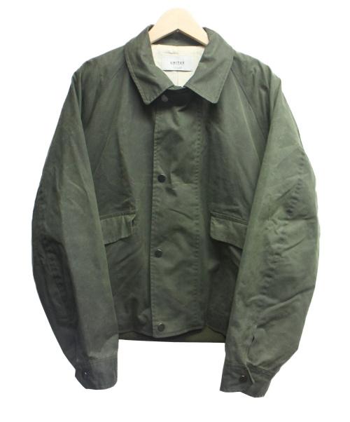 UNITUS(ユナイタス)UNITUS (ユナイタス) オイルド加工ワークジャケット オリーブ サイズ:2 Wading Jacketの古着・服飾アイテム