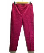 Demi-Luxe BEAMS(デミルクスビームス)の古着「サテンストレッチツイルパンツ」|フューシャピンク