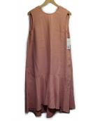 Demi-Luxe BEAMS(デミルクスビームス)の古着「フロント切替フレアワンピース」|ピンク