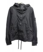 STONE ISLAND(ストーンアイランド)の古着「コットン/ポリ フーデッドジャケット」|ブラック