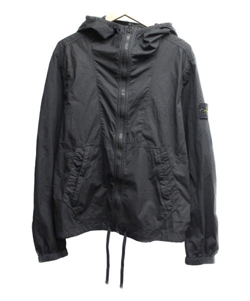 STONE ISLAND(ストーンアイランド)STONE ISLAND (ストーンアイランド) コットン/ポリ フーデッドジャケット ブラック サイズ:Mの古着・服飾アイテム