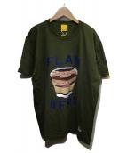 FR2(エフアールツー)の古着「プリントTシャツ」|カーキ