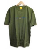 FR2(エフアールツー)の古着「プリントTシャツ」 カーキ