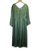 AMERI(アメリヴィンテージ)の古着「TUCK SHAPE DRESS」|グリーン