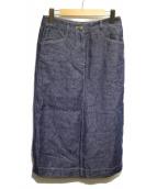 EPOCA(エポカ)の古着「リネンデニムタイトスカート」|ブルー