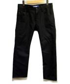 CDG JUNYA WATANABE MAN(コムデギャルソンジュンヤワタナベマン)の古着「5Pウールテーパードパンツ」|ブラック