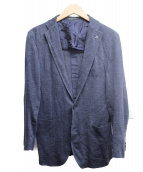 TAGLIATORE(タリアトーレ)の古着「リネン混テーラードジャケット」|ネイビー