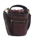 SAZABY(サザビー)の古着「キルトデザインショルダーバッグ」|ワインレッド