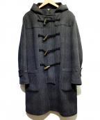 filmelange(フィルメランジェ)の古着「グレンチェック柄ダッフルコート」 ブラック