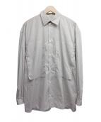 E.TAUTZ(イートーツ)の古着「ラインマン ストライプシャツ」 ホワイト