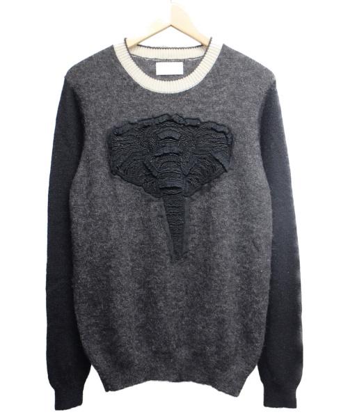 Sise(シセ)Sise (シセ) エレファントニット ブラック サイズ:1の古着・服飾アイテム