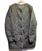ROPE mademoiselle(ロペマドモアゼル)の古着「キルティングミリタリーコート」|オリーブ