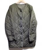 ROPE mademoiselle(ロペマドモアゼル)の古着「キルティングミリタリーコート」 オリーブ